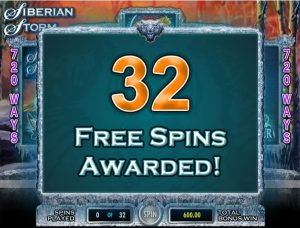Siberian Storm Dual Play Extra Spins Trigger