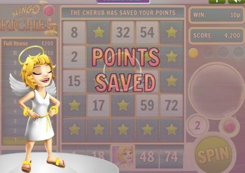 Slingo Riches Slot & Bingo – Cherub Points Saved