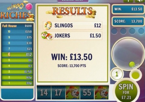 Slingo Riches Slot & Bingo – Final Win