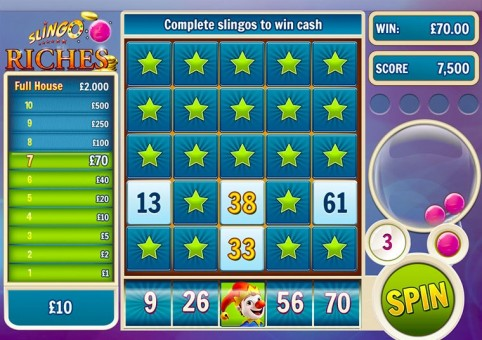 Slingo Riches Slot & Bingo Hybrid at Spin Genie
