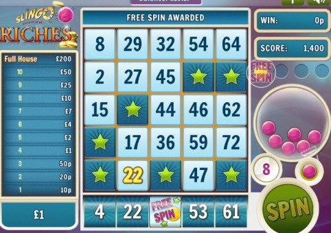 Slingo Riches at Spin Genie – Extra Spin
