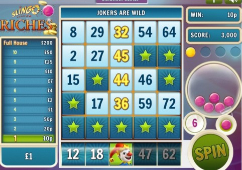 Slingo Riches at Spin Genie – Joker Wild