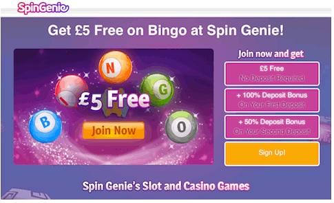 Spin Genie Bingo Promotion