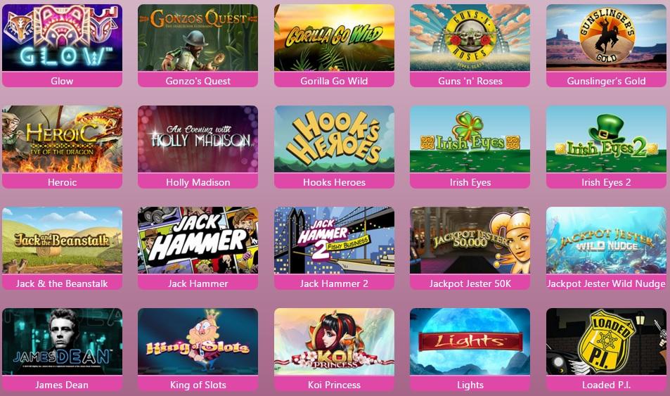 Spin Princess Casino Games