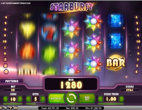 Starburst Slot by NetEnt – Expanding Wilds