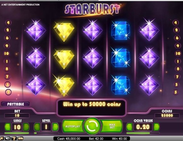 Starburst Slot by NetEnt – Gameplay