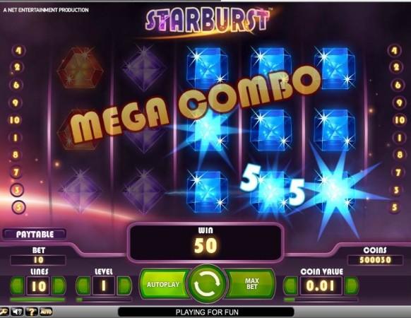 Starburst Slot by NetEnt – Mega Combo