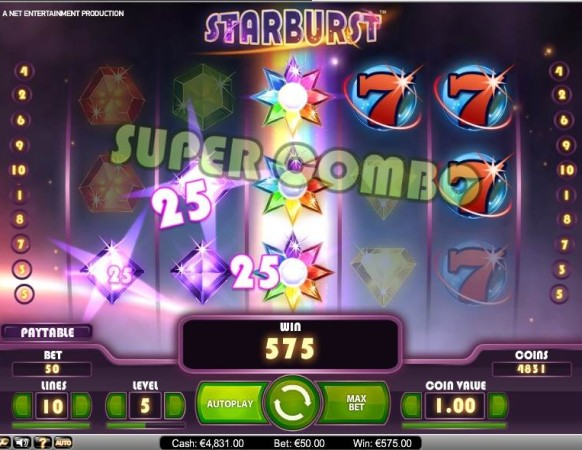 Starburst Slot by NetEnt – Super Combo