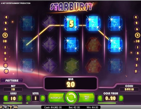 Starburst Slot by NetEnt – Win