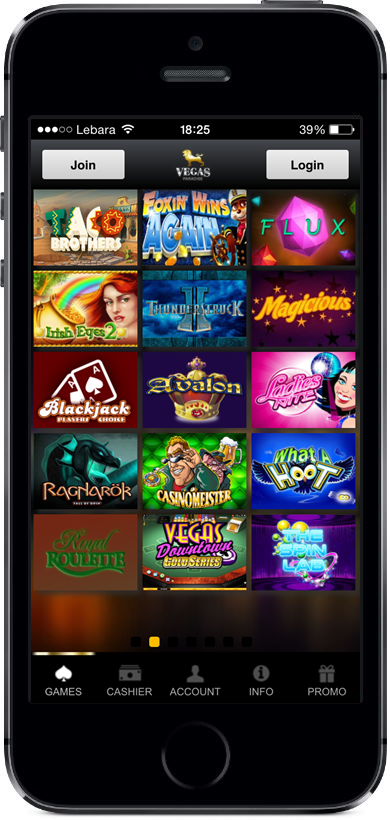 Vegas Paradise Games Page Screenshot