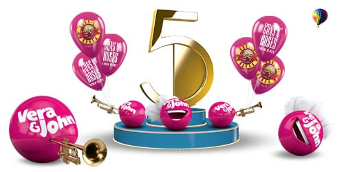 Vera & John Casino Fifth Birthday Promotion