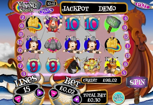 Viking Storm Slot by mFortune – Gameplay