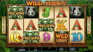Wild Orient Microgaming Mobile Slot Extra Spins