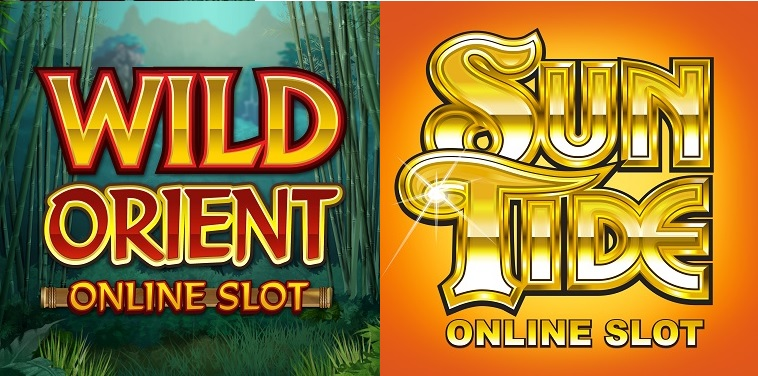 Wild Orient and SunTide Slot Logos
