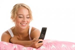 Woman Enjoying Betfred Mobile Games