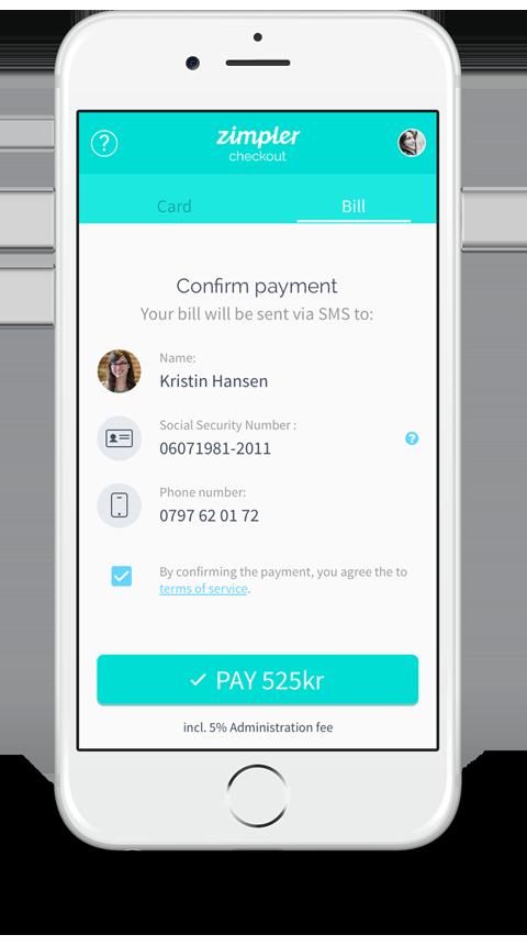 Zimpler Payment Confirmation Screenshot